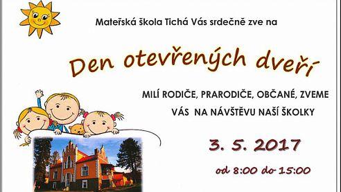 Den otevřených dveří MŠ Tichá