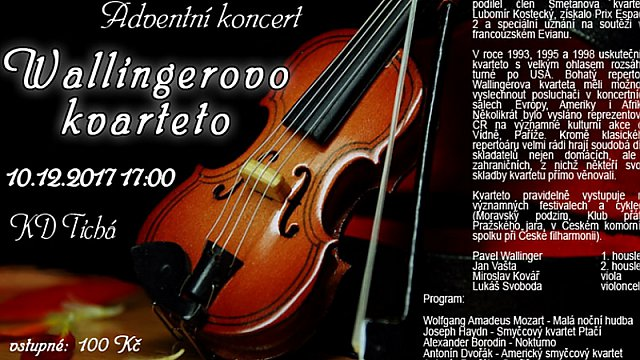 ADVENTNÍ KONCERT - Wallingerovo kvarteto